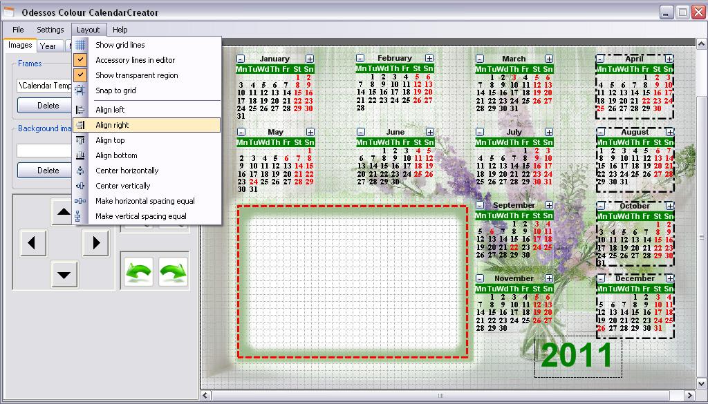 calendar creator odessos colour ltd